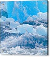 Harbour Seal Phoca Vitulina On Iceberg Acrylic Print