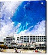 Hard Rock Beach Abstract Acrylic Print