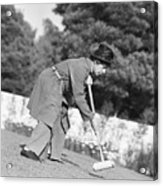 Harpo Marx Playing Croquet Acrylic Print