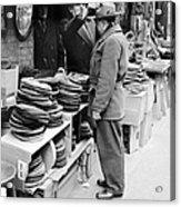 Harry Kregman, Owner Of Hats & Caps, At Acrylic Print