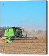 Harvesting Soybeans Acrylic Print