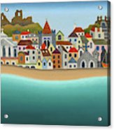 Hastings From The Sea Acrylic Print