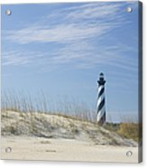 Hatteras Lighthouse And The Dunes Acrylic Print