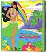 Hawaii Poster - Pop Art - Travel Acrylic Print