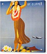 Hawaii Travel Poster Acrylic Print
