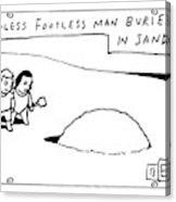 Headless Footless Man Acrylic Print