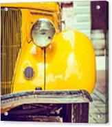 Headlight Lamp  Vintage Car - Vintage Acrylic Print