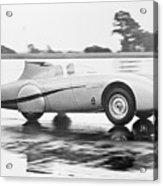 Healey Racing At Bonneville Salt Flats Acrylic Print
