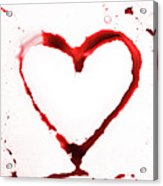 Heart Shape From Splaches And Blobs Acrylic Print
