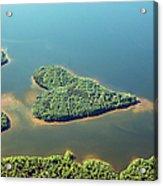 Heart-shaped Island In Lake Acrylic Print