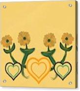 Hearts Bronze Acrylic Print