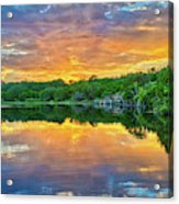 Heavenly Reflections In The Hill Country Acrylic Print