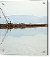Heavy Machinery At The Dead Sea Acrylic Print