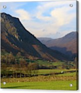 Helm Crag And Wythburn Fells Above Grasmere In The Lake District Acrylic Print