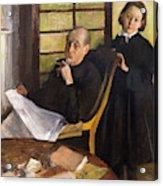 Henri Degas And His Niece Lucie Degas Acrylic Print