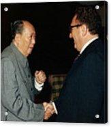 Henry Kissinger Meeting Mao Tse-tung Acrylic Print