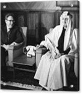 Henry Kissinger With King Faisal Acrylic Print