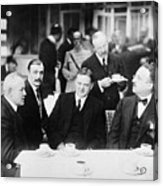 Herbert Hoover Meeting With French Acrylic Print