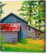 Hidden Sheep Barn Acrylic Print