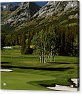 High Angle View Of A Golf Course, Mt Acrylic Print