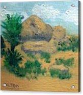 High Desert Rock Garden Acrylic Print