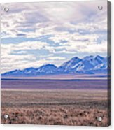 High Plains And Majestic Mountains Acrylic Print