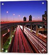 Highway At Night Acrylic Print