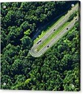 Highway U-turn In Forest Acrylic Print