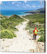 Hiking To Sandfly Bay New Zealand Acrylic Print