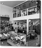 Hindsman General Store - Allensworth State Park - Black And White Acrylic Print