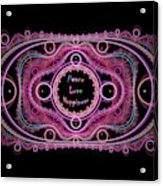 Hippie Lace - Peace, Love, Happiness Acrylic Print