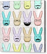 Hipster Bunnies Acrylic Print