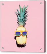 Hipster Pineapple Fashion Accessories Acrylic Print
