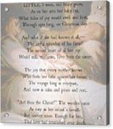 His Mother's Joy Acrylic Print