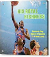 His Royal Highness Bernard King Raises The Game To A New Sports Illustrated Cover Acrylic Print