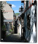 historic cobbled lane in Beilstein Germany Acrylic Print