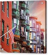 Historic North End Boston Massachusetts Acrylic Print