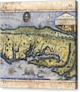Historical Map Hand Painted Drake Virginia Acrylic Print