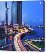 Ho Chi Minh City At Night Acrylic Print