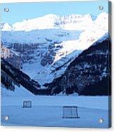 Hockey Net On Frozen Lake Acrylic Print