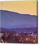 Holston Mountain Over Tennessee High Acrylic Print