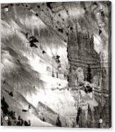 Hoodoo's Black White Utah  Acrylic Print