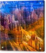 Hoodoo's Rainbow Color Mix Bryce Canyon  Acrylic Print