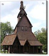 Hopperstad Stave Church Replica Acrylic Print