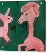 Horse And A Rabbit Acrylic Print