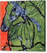 Horse On Orange And Green Acrylic Print