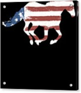 Horse Usa Patriotic Horse Silhouette Equestrian Riders Gift Light Acrylic Print