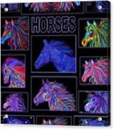 Horses Poster Acrylic Print