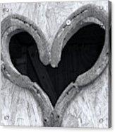 Horseshoe Heart Acrylic Print