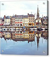 Houses Reflection In River, Honfleur Acrylic Print